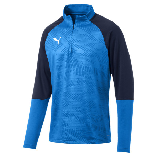 Sweat de football CUP Training Core pour homme, Electr Blue Lemonade-Peacoat, large