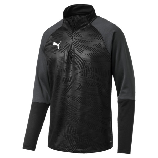 Sweat de football CUP Training Core pour homme, Puma Black-Asphalt, large