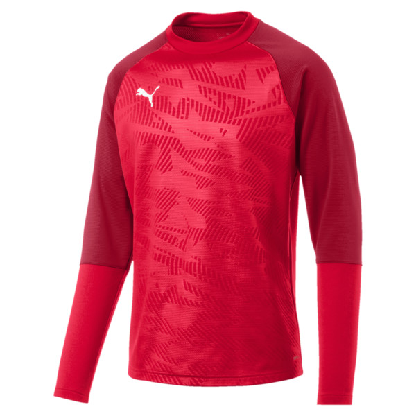 Sweat de football CUP Training Core pour homme, Puma Red-Chili Pepper, large