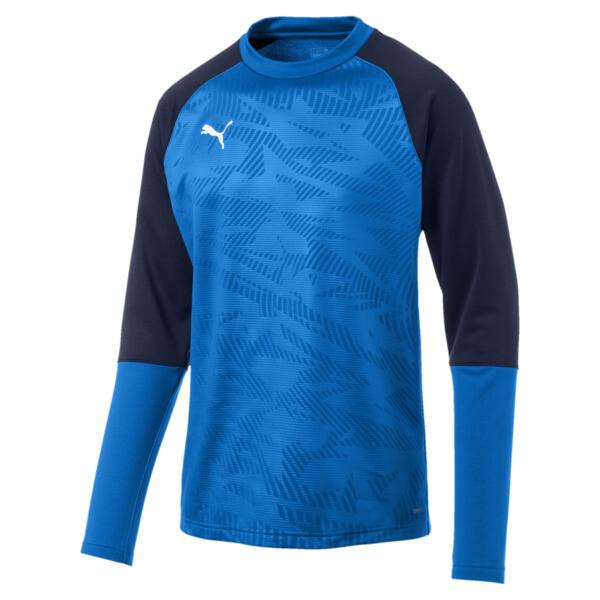 CUP Training Core Men's Football Sweater, Electr Blue Lemonade-Peacoat, large