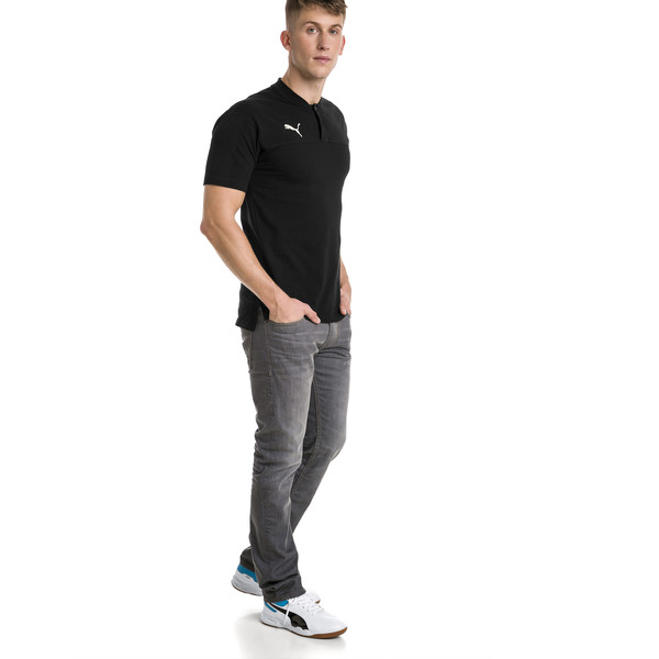 CUP Casuals Men's Polo, Puma Black-whisper white, large