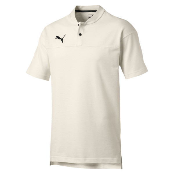 CUP Casuals Men's Polo, Whisper White-PUMA Black, large