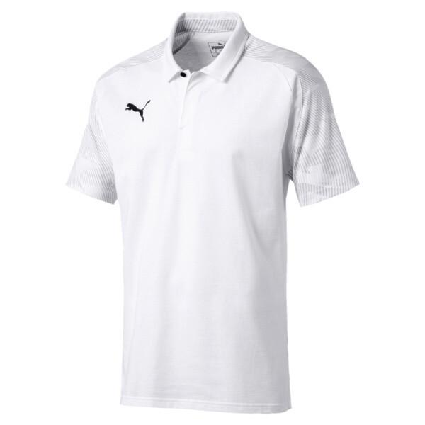 Polo CUP Sideline pour homme, Puma White-PUMA Black, large