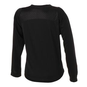 Thumbnail 2 of キッズ FTBLNXT LS グラフィックシャツ ジュニア, Puma Black-Iron Gate, medium-JPN