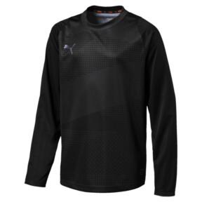 Thumbnail 1 of キッズ FTBLNXT LS グラフィックシャツ ジュニア, Puma Black-Iron Gate, medium-JPN