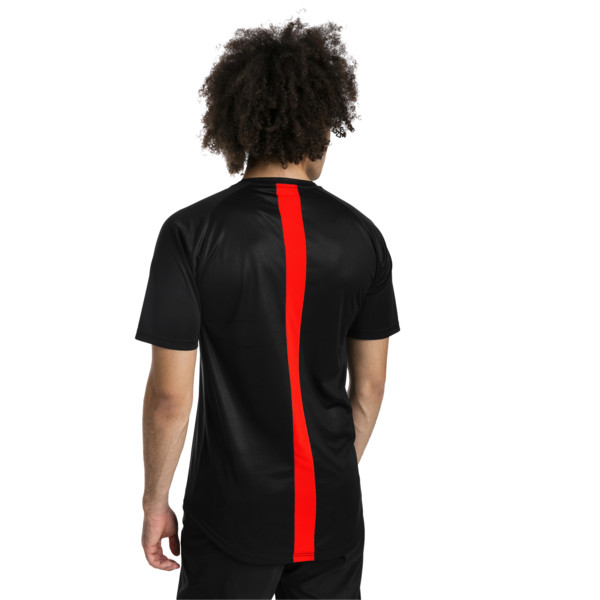 ftblNXT Men's Football Tee, Puma Black-Red Blast, large