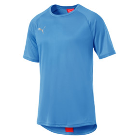 Thumbnail 4 of ftblNXT Men's Football Tee, Bleu Azur-Red Blast, medium
