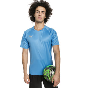 Thumbnail 1 of ftblNXT Men's Football Tee, Bleu Azur-Red Blast, medium