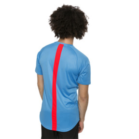 Thumbnail 2 of ftblNXT Men's Football Tee, Bleu Azur-Red Blast, medium