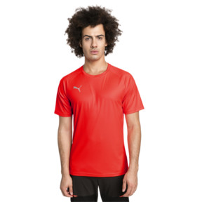 Thumbnail 1 of ftblNXT Men's Football Tee, Red Blast-Puma Black, medium