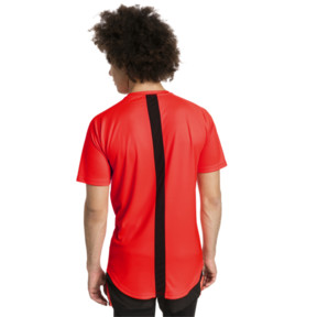 Thumbnail 2 of ftblNXT Men's Football Tee, Red Blast-Puma Black, medium