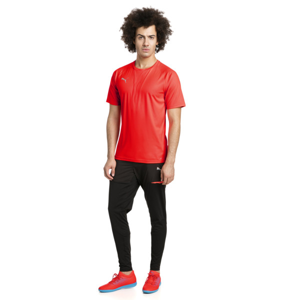 ftblNXT Men's Football Tee, Red Blast-Puma Black, large
