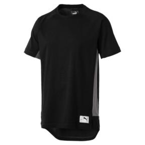 Thumbnail 4 of ftblNXT Causals Graphic Men's Football Tee, Puma Black-Charcoal Gray, medium