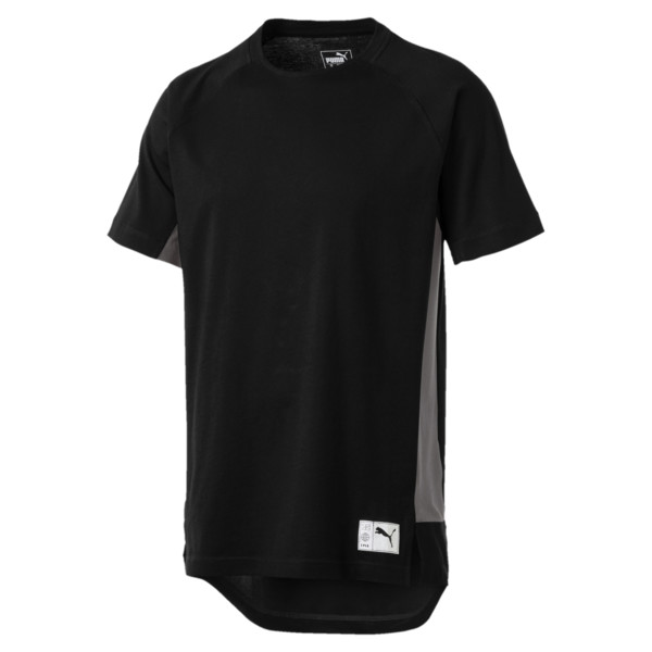 ftblNXT Casuals Graphic Herren Fußball T-Shirt, Puma Black-Charcoal Gray, large