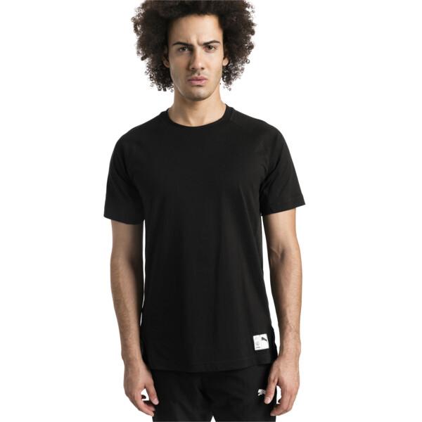 ftblNXT Causals Graphic Men's Football Tee, Puma Black-Charcoal Gray, large