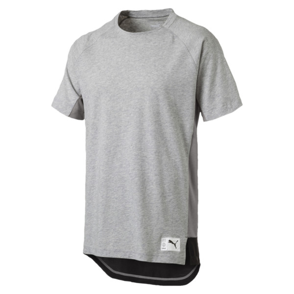 ftblNXT Causals Graphic Men's Football Tee, Light Gray H-Charcoal Gray, large
