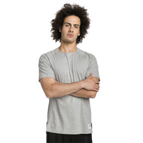 Thumbnail 1 of ftblNXT Causals Graphic Men's Football Tee, Light Gray H-Charcoal Gray, medium