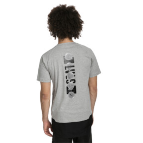 Thumbnail 2 of ftblNXT Causals Graphic Men's Football Tee, Light Gray H-Charcoal Gray, medium