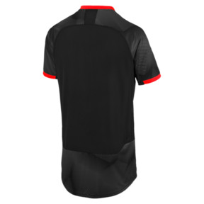Thumbnail 5 of ftblNXT Graphic Men's Shirt, Puma Black-Red Blast, medium
