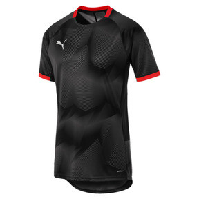 Thumbnail 4 of ftblNXT Graphic Men's Shirt, Puma Black-Red Blast, medium