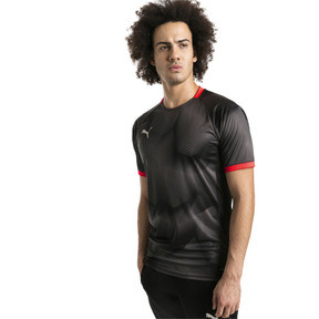 Thumbnail 1 of ftblNXT Graphic Men's Shirt, Puma Black-Red Blast, medium