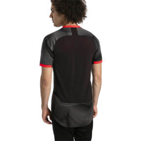 Thumbnail 2 of ftblNXT Graphic Men's Shirt, Puma Black-Red Blast, medium