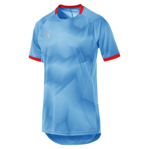 ftblNXT Graphic Men's Training Top, Bleu Azur-Red Blast, large