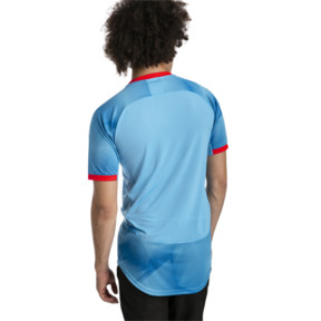 Thumbnail 2 of T-Shirt ftblNXT Graphic pour homme, Bleu Azur-Red Blast, medium