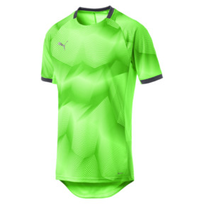 Thumbnail 4 of ftblNXT Graphic Men's Training Top, Green Gecko-Ebony, medium