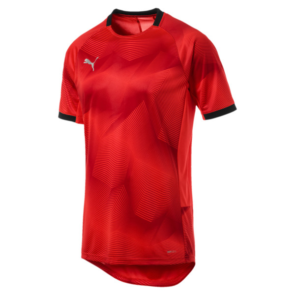 ftblNXT Graphic Men's Shirt, Red Blast-Puma Black, large