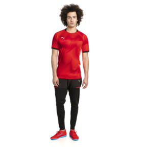 Thumbnail 3 of ftblNXT Graphic Men's Shirt, Red Blast-Puma Black, medium