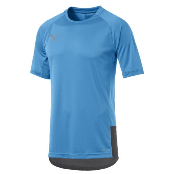 ftblNXT Pro Men's Training Top, Bleu Azur-Red Blast, large