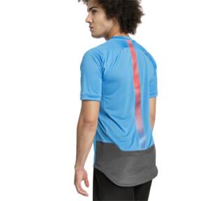 Thumbnail 2 of ftblNXT Pro Men's Training Top, Bleu Azur-Red Blast, medium
