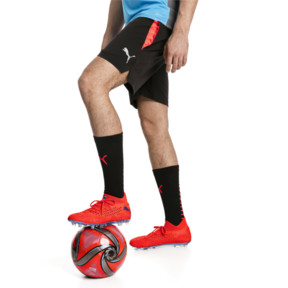 Thumbnail 1 of ftblNXT Pro Men's Football Shorts, Puma Black-Red Blast, medium