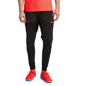 Thumbnail 1 of ftblNXT Men's Pro Training Pants, Puma Black-Red Blast, medium