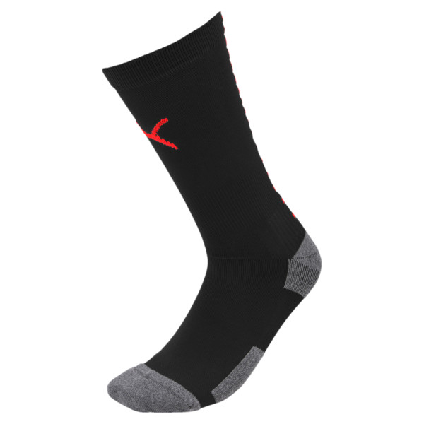 Team ftblNXT Men's Football Socks, Puma Black-Red Blast, large