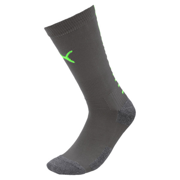 Team ftblNXT Men's Football Socks, Ebony-Green Gecko, large