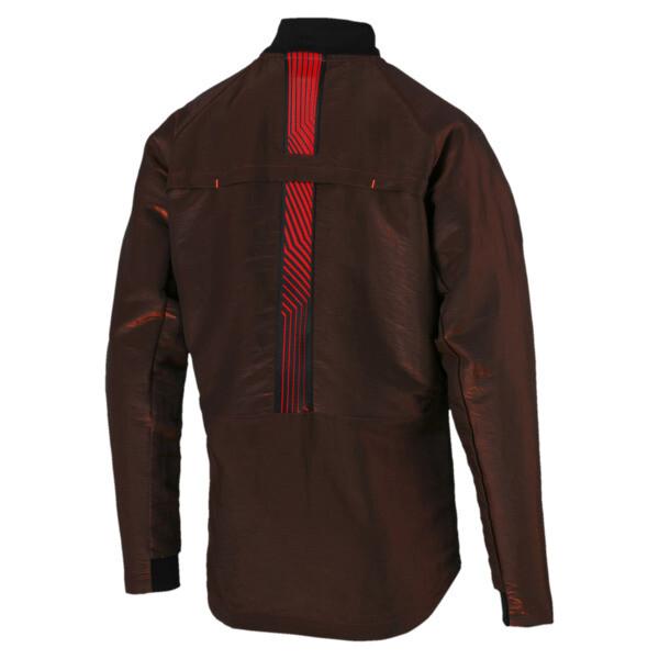 ftblNXT Men's Pro Jacket, Puma Black-Red Blast, large