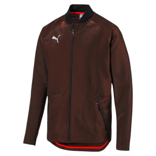 Chaqueta de hombre ftblNXT Pro, Puma Black-Red Blast, grande