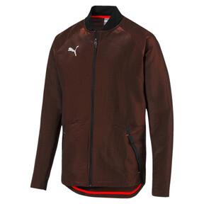Thumbnail 6 of ftblNXT Men's Pro Jacket, Puma Black-Red Blast, medium