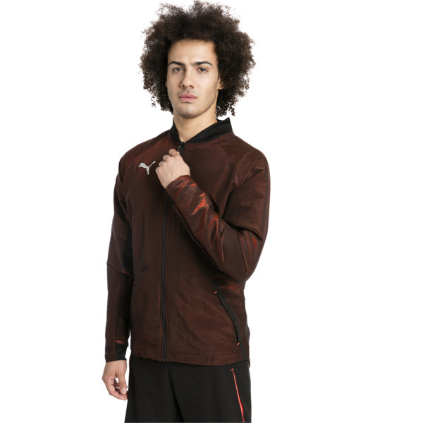 ftblNXT Pro Men's Jacket, Puma Black-Red Blast, large