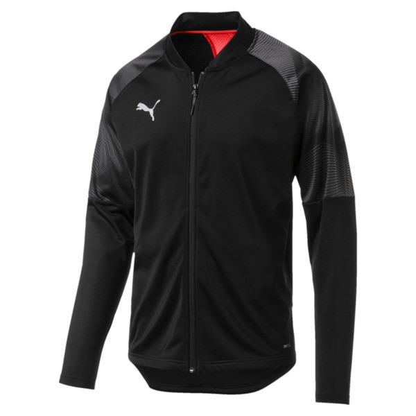 ftblNXT Zip-Up Men's Track Jacket, Puma Black-Red Blast, large