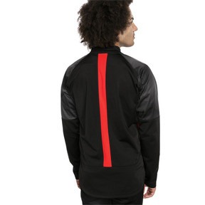 Thumbnail 2 of ftblNXT Men's Track Jacket, Puma Black-Red Blast, medium