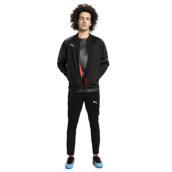 ftblNXT Men's Track Jacket, Puma Black-Red Blast, large