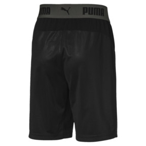 Thumbnail 2 of ftblNXT Kids' Football Shorts, Puma Black-Red Blast, medium