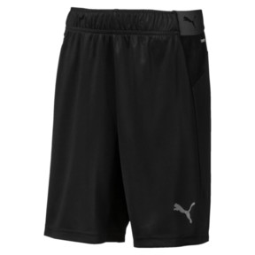 Thumbnail 1 of ftblNXT Kids' Football Shorts, Puma Black-Red Blast, medium