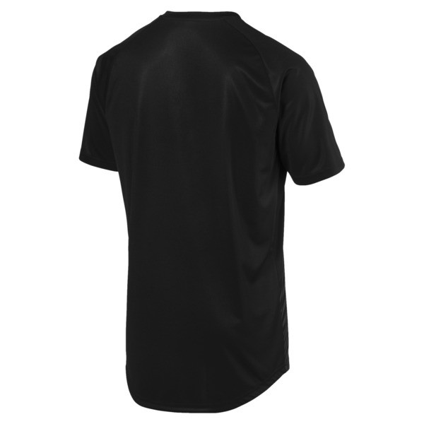 ftblNXT Core Men's Football Graphic Tee, Puma Black-Red Blast, large