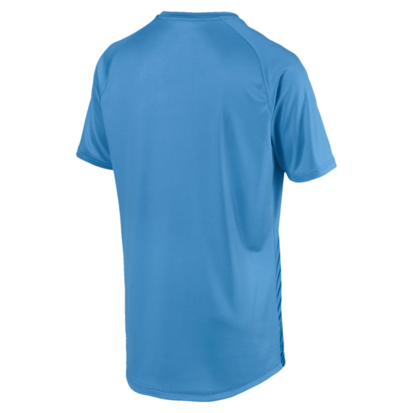 ftblNXT Core Men's Football Graphic Tee, Bleu Azur-Red Blast, large