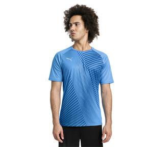 Thumbnail 1 of ftblNXT Core Graphic Herren Fußball T-Shirt, Bleu Azur-Red Blast, medium