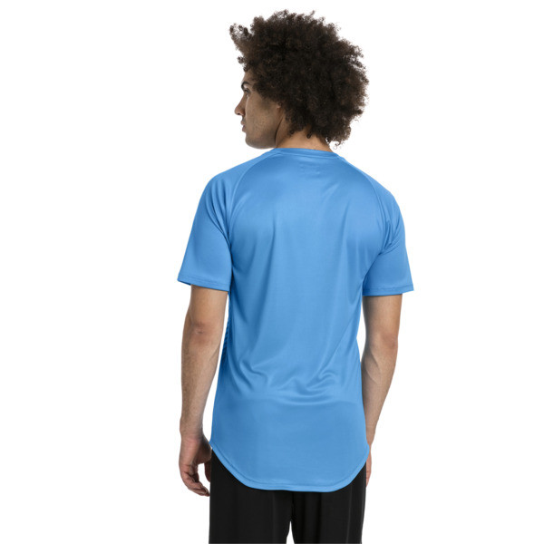 T-Shirt de foot ftblNXT Core Graphic pour homme, Bleu Azur-Red Blast, large